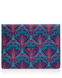 Liberty | Blue Travel Card Holder In Iphis Canvas | Lyst