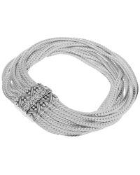 Stephen Dweck   Metallic Silver And Rainbow Moonstone Multi Curb Chain Bracelet   Lyst