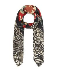Lily and Lionel - Multicolor Wild Flower Silk Scarf - Lyst