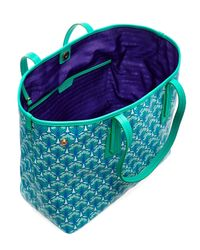 Liberty - Green Little Marlborough Tote Bag In Iphis Canvas - Lyst