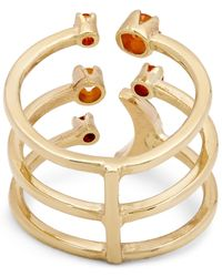 Andrea Fohrman - Metallic Gold Triple Moon Fire Opal Ring - Lyst