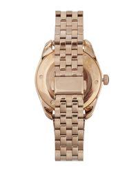 Nixon - Metallic Rose Gold-tone Bullet Watch - Lyst