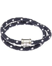 Miansai   Blue Two-tone Leather Casing Bracelet   Lyst