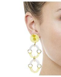 Lele Sadoughi - Yellow Rainbow Arch Earrings - Lyst