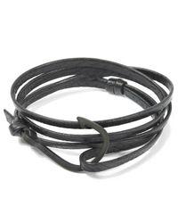 Miansai - Black Hook Leather Bracelet - Lyst