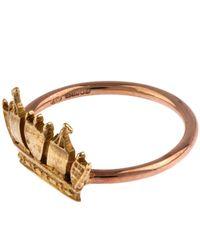Annina Vogel - Metallic Rose Gold Crown Ring - Lyst
