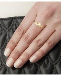 Alex Monroe - Metallic Gold Plume Ring - Lyst