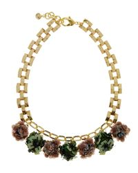 Lulu Frost - Metallic Gold-plated Rumba Sequinned Necklace - Lyst