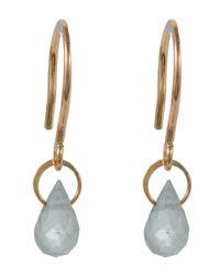 Melissa Joy Manning - Metallic Gold White Topaz Mini Drop Earrings - Lyst