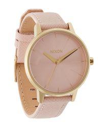 Nixon - Pink Kensington Leather Watch - Lyst
