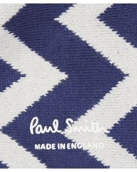Paul Smith | Blue Zig Zag Socks for Men | Lyst