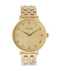 Nixon - Metallic Arrow Metal Watch - Lyst