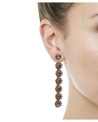 Lulu Frost - Multicolor Beam Crystal Drop Earrings - Lyst