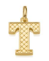 Monica Vinader | Metallic Gold-plated Alphabet Pendant T | Lyst