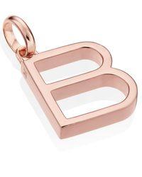 Monica Vinader - Pink Rose Gold-plated Alphabet Pendant B - Lyst