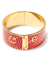 Liberty | Red Hera Enamel Solid Cuff | Lyst