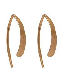 Melissa Joy Manning   Metallic Small Wishbone Hoop Earrings   Lyst
