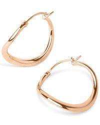 Dinny Hall - Metallic Small Wave Hoop Earrings - Lyst