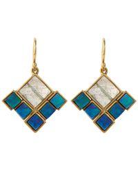 Nak Armstrong | Blue Boulder Opal And Labradorite Earrings | Lyst