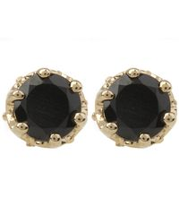 Anna Sheffield - Metallic Gold Petite Solitaire Earrings - Lyst