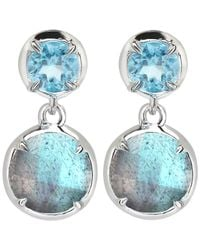 Dinny Hall - Blue Silver Labradorite Sheba Double Drop Earrings - Lyst