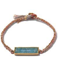 Brooke Gregson | Metallic Aquamarine Bar Bracelet | Lyst