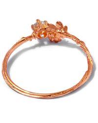 Alex Monroe   Multicolor 18ct Rose Gold Rosa Noisette Diamond Ring   Lyst