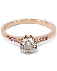 Anna Sheffield | Metallic Gold Hazeline Solitaire Ring | Lyst