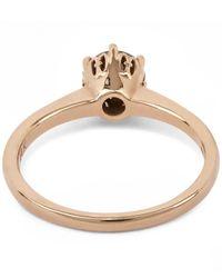 Anna Sheffield - Metallic Gold Hazeline Solitaire Ring - Lyst