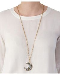 Lulu Frost - Metallic Long Gold-plated Laumiere Moon Pendant - Lyst