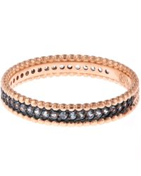 Kismet by Milka - Multicolor Rose Gold Blue Sapphire Eternity Band - Lyst