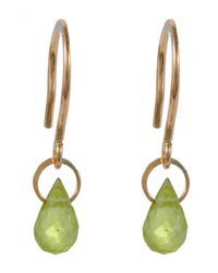 Melissa Joy Manning | Metallic Mini Gold Peridot Drop Earring | Lyst