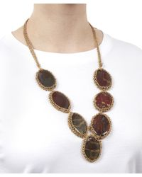 Rosantica - Metallic Ardelia Large Stone Necklace - Lyst