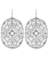 Laurent Gandini | Metallic Silver Tombolo Earrings | Lyst