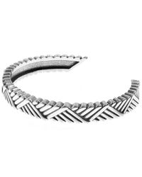 Philippe Audibert - Metallic Diagonal Patterned Ben Bangle - Lyst