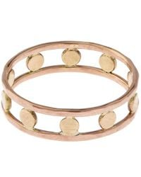 Melissa Joy Manning   Metallic Gold Double Band Circle Ring   Lyst
