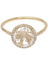 Suzanne Kalan - Metallic Gold White Diamond And White Topaz Ring - Lyst