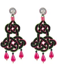 Anna E Alex - Black Chandelier Deco Earrings - Lyst