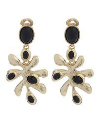 Oscar de la Renta | Black Sea Tangle Clip-on Earrings | Lyst