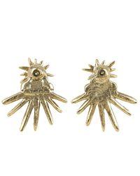 Oscar de la Renta - Blue Gold-plated Celestial Star Ear Jacket Earrings - Lyst