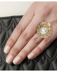 Oscar de la Renta - Metallic Urchin Pearl Ring - Lyst