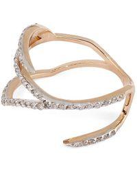 Kismet by Milka | Metallic White Diamond Zebra Pinky Ring | Lyst