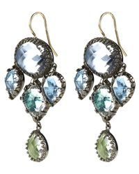Larkspur & Hawk - Metallic Sadie Sterling Silver White Quartz Girandole Earrings - Lyst