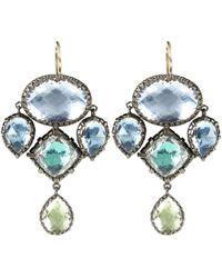 Larkspur & Hawk | Metallic Sadie Sterling Silver White Quartz Girandole Earrings | Lyst