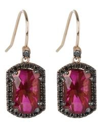 Suzanne Kalan | Pink Rose Gold Dangle Earring | Lyst