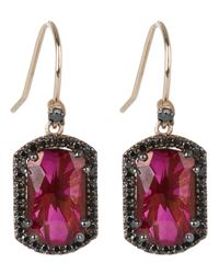 Suzanne Kalan - Pink Rose Gold Dangle Earring - Lyst