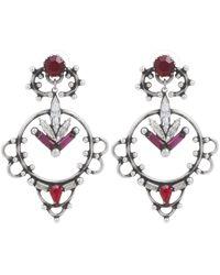 DANNIJO | Metallic Esther Multi Drop Crystal Earrings | Lyst