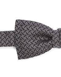 Lanvin | Black Zig Zag Bow Tie for Men | Lyst