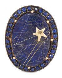 Andrea Fohrman | Metallic Gold Galaxy Lapis Lazuli Quartz Ring | Lyst