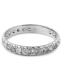 Anna Sheffield | Metallic White Gold Attelage Pave Grey Diamond Ring | Lyst